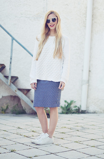 Knit Top + Skirt Outfit 3