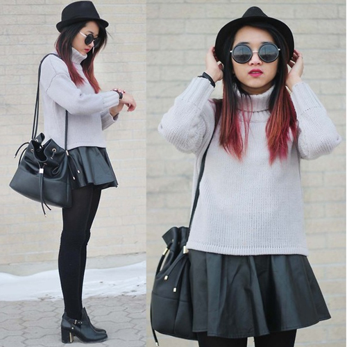 Knit Top + Skirt Outfit 5