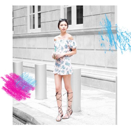 Dress + Gladiator Sandals 3