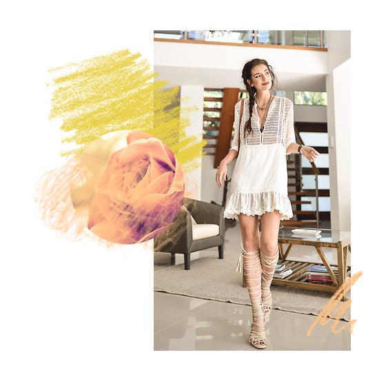 Dress + Gladiator Sandals 5