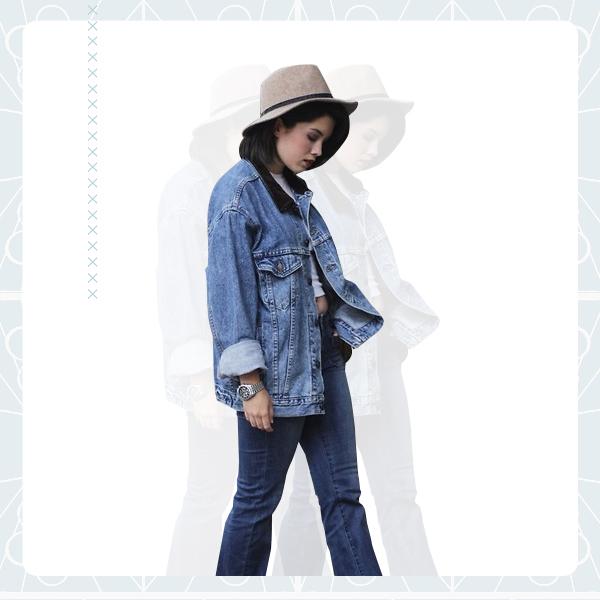 Denim Jacket + Denim Pants outfit1