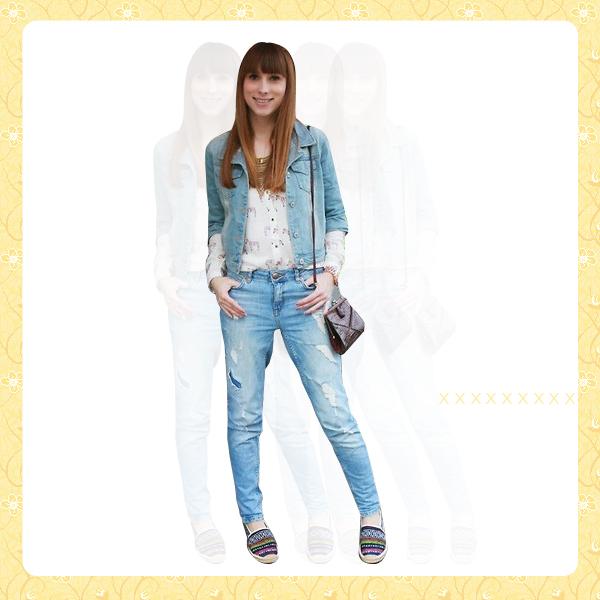 Denim Jacket + Denim Pants OUTFIT3