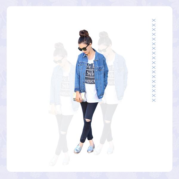 Denim Jacket + Denim Pants OUTFIT5