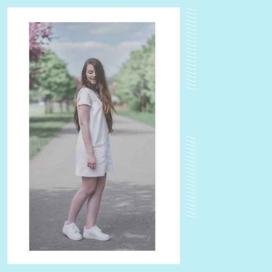 Style Equation: White Dress + White Sneakers Look 2