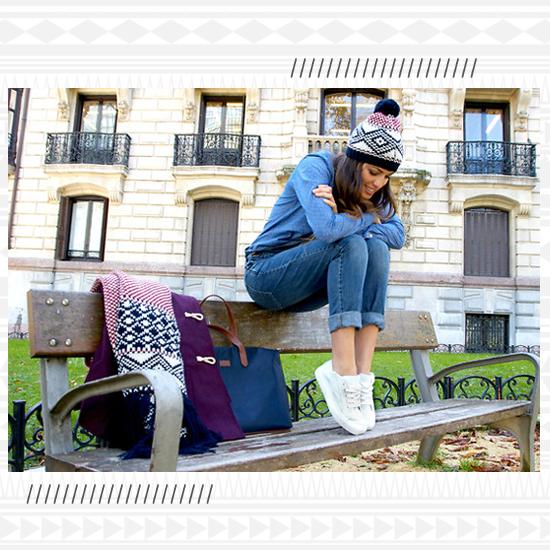 Denim + White Sneakers look 1