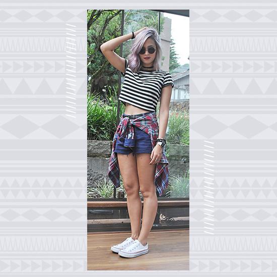 Denim + White Sneakers look 3