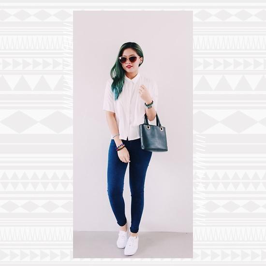 Denim + White Sneakers  Look 4