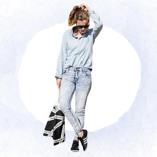 Denim + Denim + Sneakers Look 2
