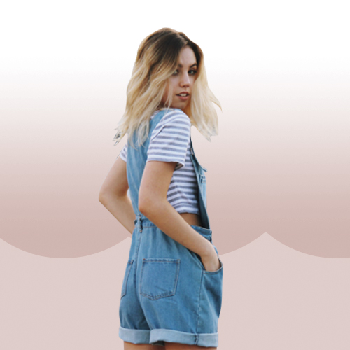 Style Equation: Tee + Overalls Look 5