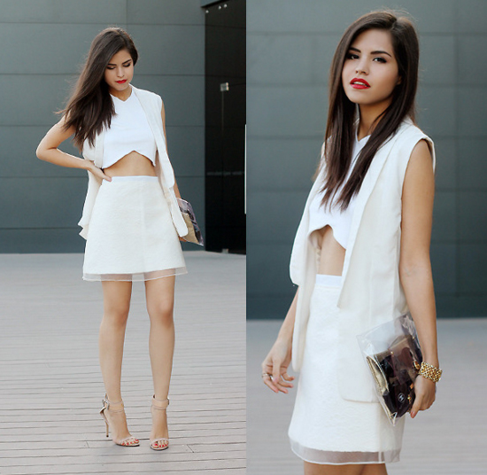 White-on-white look