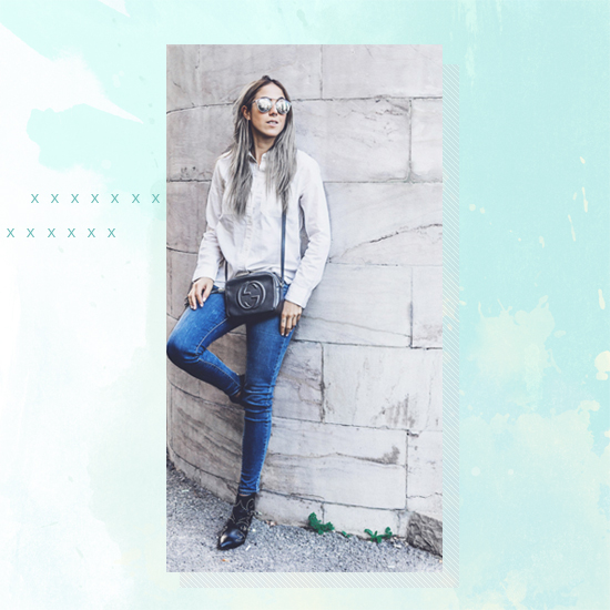 Style Equation: Denim + White outfit 1