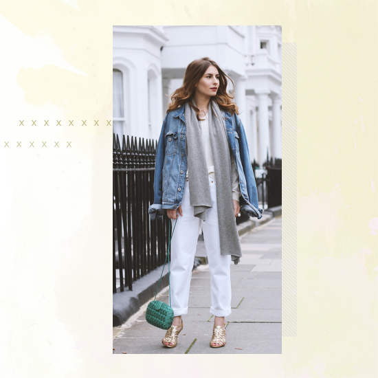 Style Equation: Denim + White outfit 5