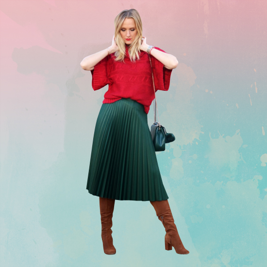 Style Equation: Red + Green Look 1