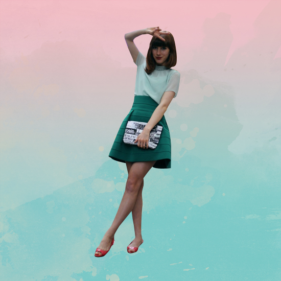 Style Equation: Red + Green look 2