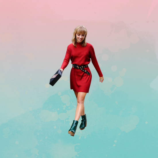 Style Equation: Red + Green look 4