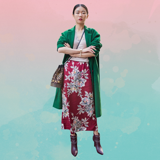 Style Equation: Red + Green look 5