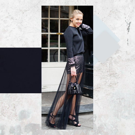 Style Equation: Black + Metallics look 2