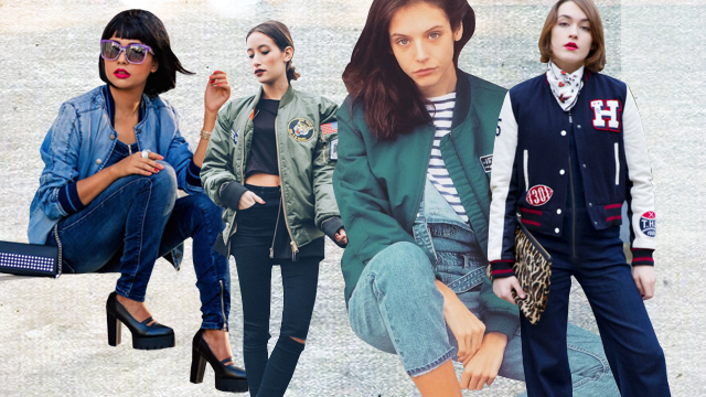 Style Equation: Bomber Jacket + Denim Pants
