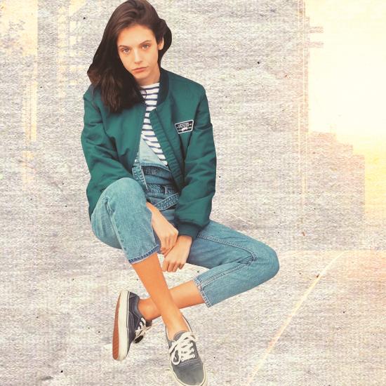 Style Equation: Bomber Jacket + Denim Pants Look 2