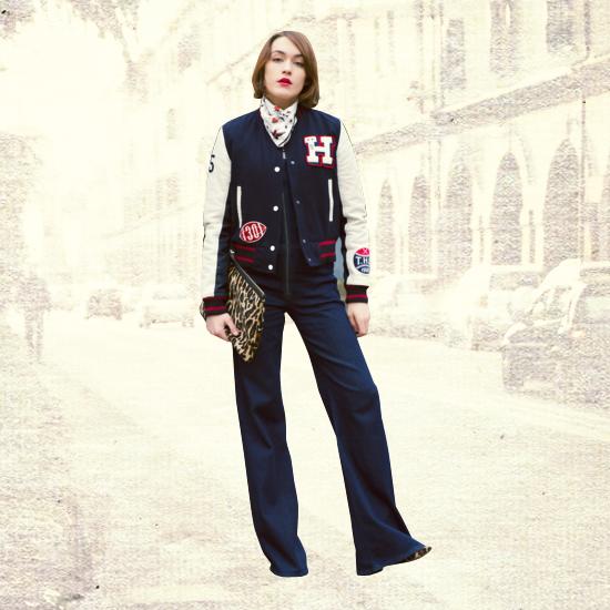 Style Equation: Bomber Jacket + Denim Pants Look 3