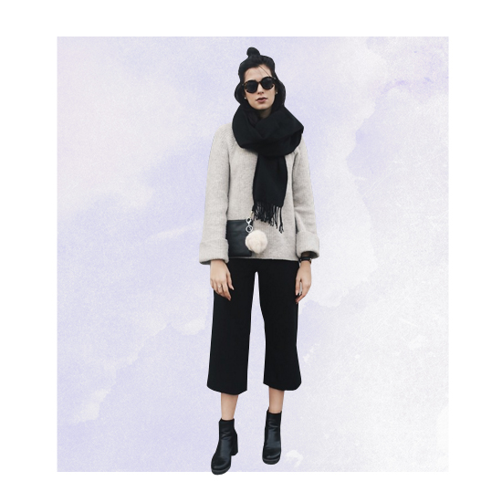 Style Equation: Sweater + Culottes Look 3