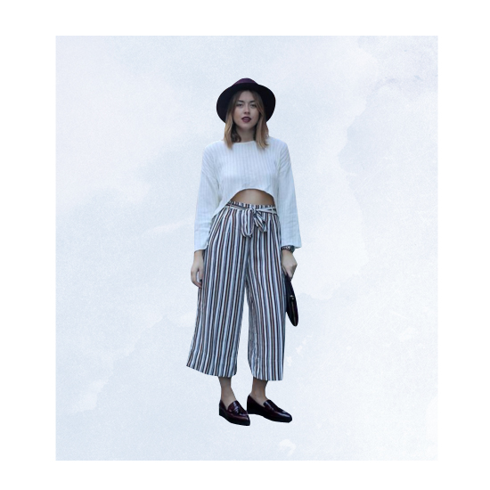Style Equation: Sweater + Culottes Look 4