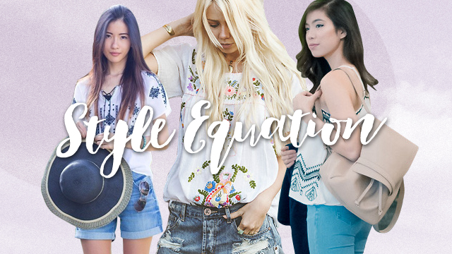 Style Equation: Embroidered Top + Denim