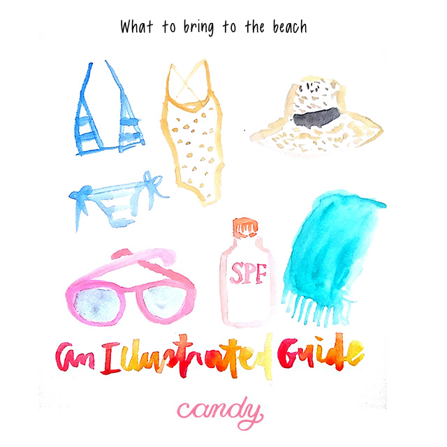 An Illustrated Guide: What to Bring to the Beach