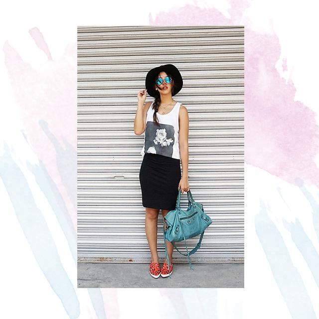 Style Equation: Tank Top + Sneakers