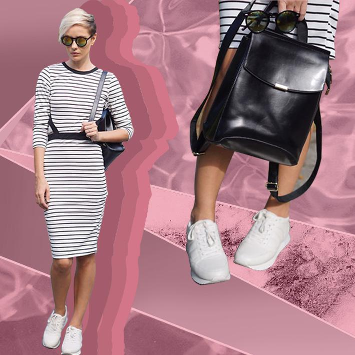 Style Equation: Dress + Sneakers