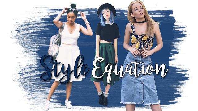 Style Equation: Crop Top + Midi Skirt