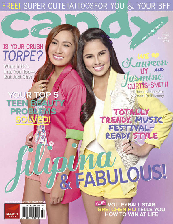 Laureen Uy and Jasmine Curtis-Smith on the cover of Candy August issue