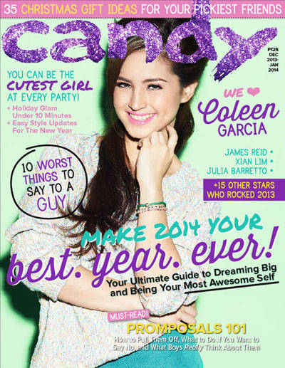 Coleen Garcia on the December-January cover