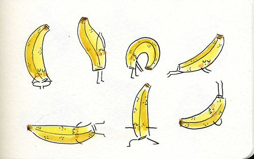 banana yoga pose