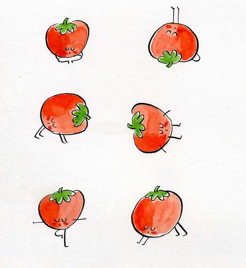 tomato yoga poses