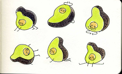 avocado yoga poses