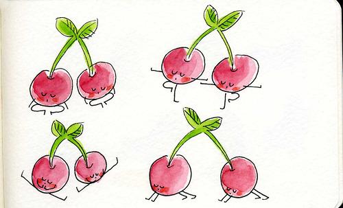 cherry yoga poses