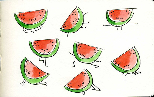 watermelon yoga poses