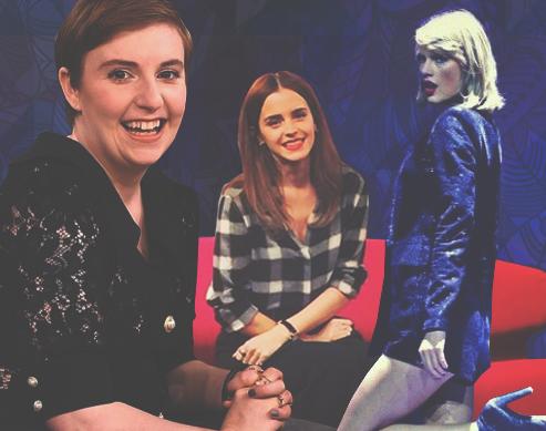 Lena Dunham, Emma Watson, Taylor Swift