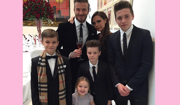 The Beckham siblings