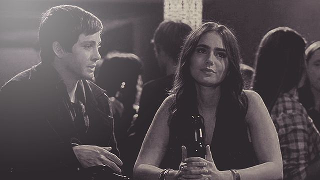 Logan Lerman and Lily Collins