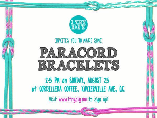 I Try DIY's Paracord Bracelet Workshop