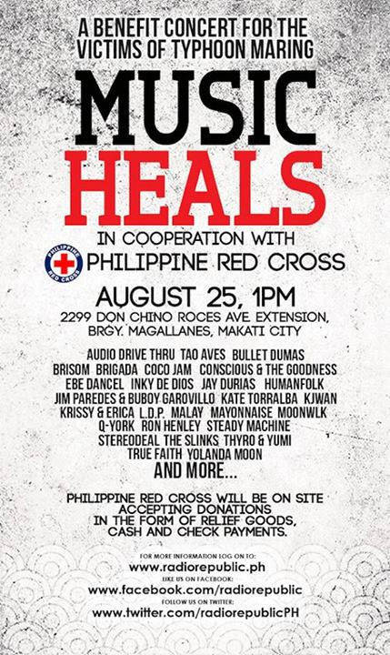 Music Heals, A Benefit Concert For The Victims of Typhoon Maring