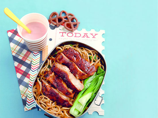 Easy Pancit Canton with Chicken Barbecue