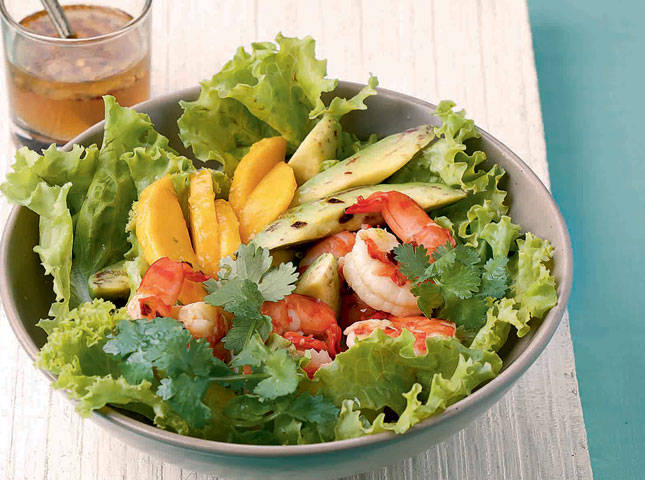 Prawn Mango Avocado Salad