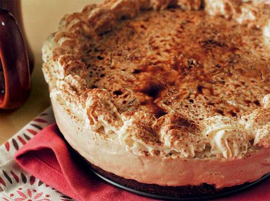 No-Bake Cappuccino Cheesecake