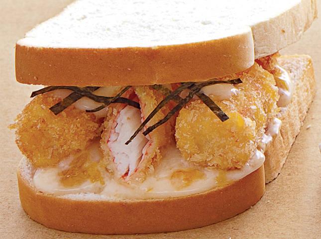 Crunchy Kani Sticks with Apricot Mayo Sandwich