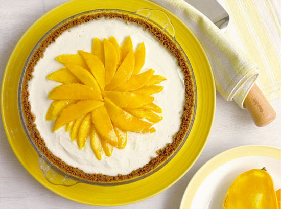 Frozen Mango Cream Pie