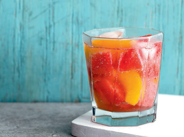 Watermelon-Peach Spritzer