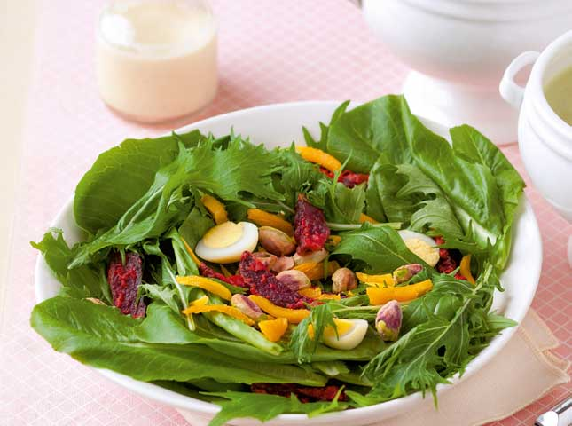 Fried Beet Salad in Creamy Dressing